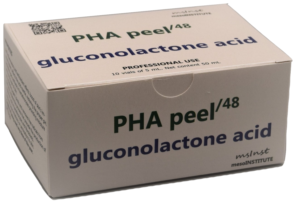 PHA chemical peel gluconolactone anti inflamatory anti oxidant acne pspriasis dermatitis seborrhea enlarged pores loose sagging skin dull uneven skin tone photo aging barcelona