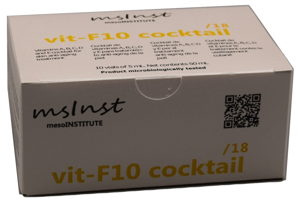 vit-F10 cocktail/18 vitamins cocktail, antioxidant, antifree radicals Anti-oxidant. Anti free radicals. Vitamin cocktail. anti aging oily skin acne pigmentation collagen vitamines caviar extract mesotherapy cocktails mesoinstitute