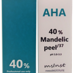 chemical peel AHA mandelic 40% acne rosacea folliculitis blackheads minor expression wrinkles enlarged pores dry skin dehydration barcelona