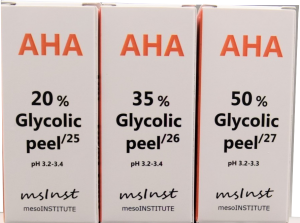 glycolic AHA chemical peel anti aging mimic wrinkles excessive oil mesoinstitute barcelona