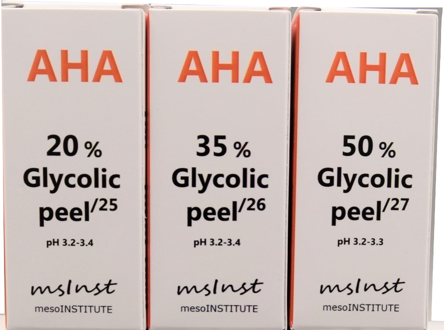 glycolic AHA chemical peel anti aging mimic wrinkles excessive oil mesoinstitute barcelona Chemical peel Rejuvenation Lines wrinkles