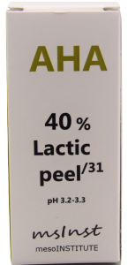 40 lactic AHA chemical peel epidermal dehydration mild acne suiperficial wrinkles sun damage enlarged pores uneven skin barcelona