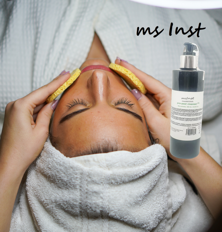Prepare the skin. Uniforms pH. Remove oil. Cleanses the skin. Moisturize. Anti-bacterial properties pre peel cleanser mesoinstitute chemical peel unifies ph exfoliant wrinkles mature skin caviar extract hyaluronic acid