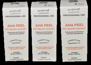 AHA peelings. Chemical peel: Rejuvenation, wrinkles and lines